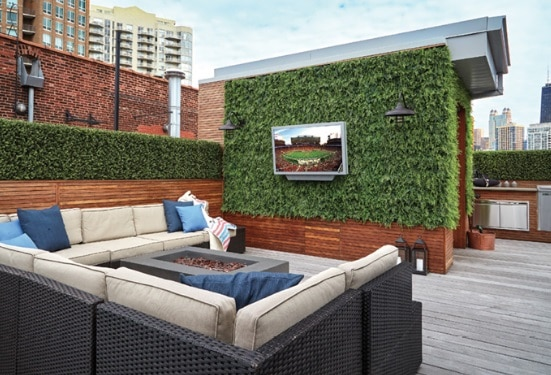 Comfortable Rooftop Deck