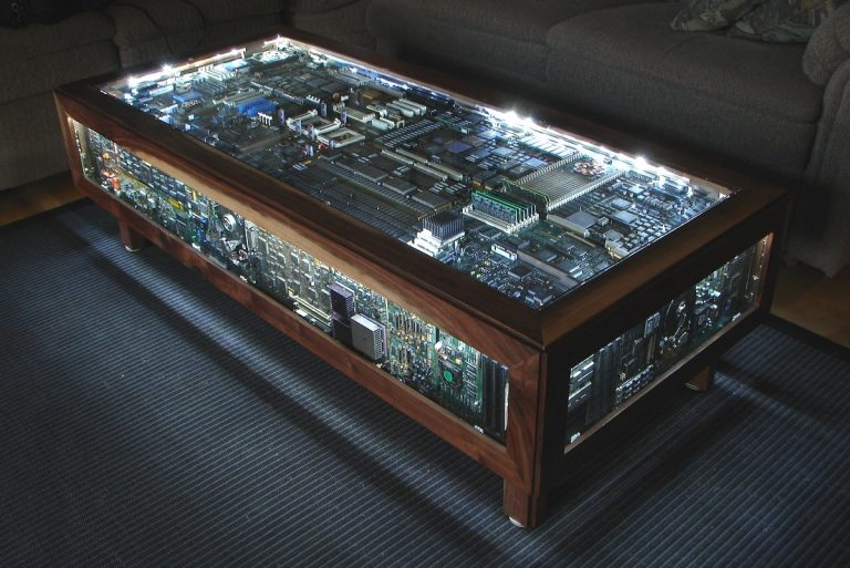 Shiny Computer Board Coffee Table
