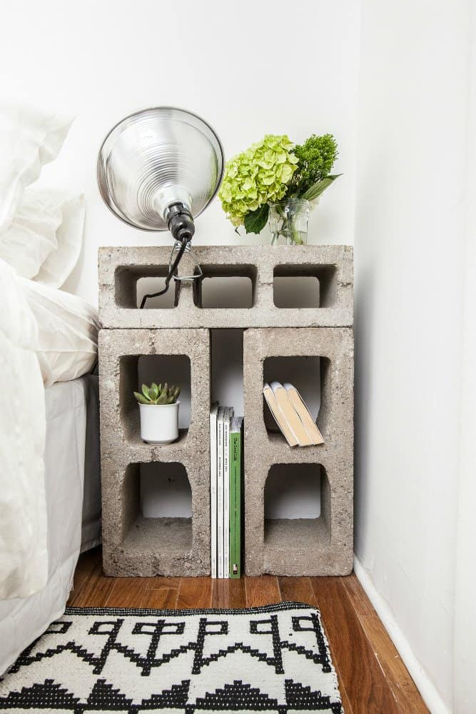 Concentred Blocks Small Nightstand Ideas