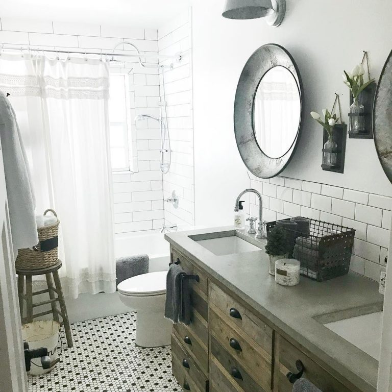 Modern Farmhouse Concrete Bathroom Countertop