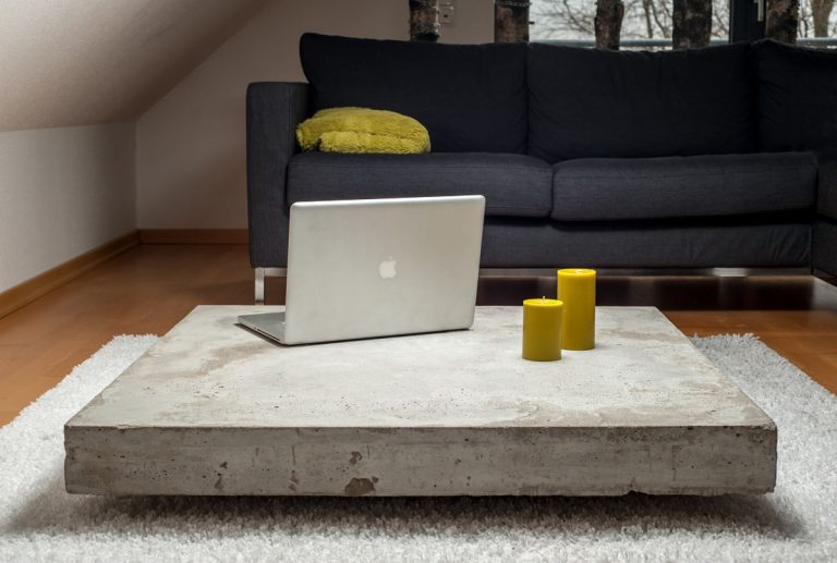 Concrete Low Coffee Table