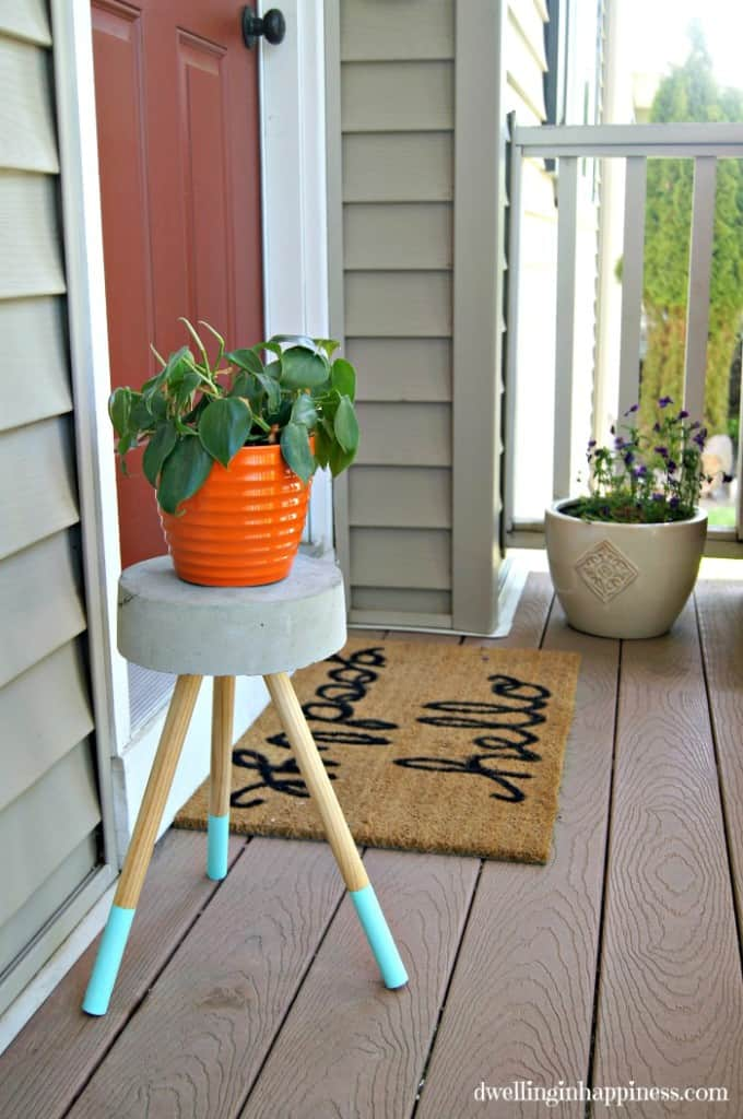 Concrete Plant Stand Ideas
