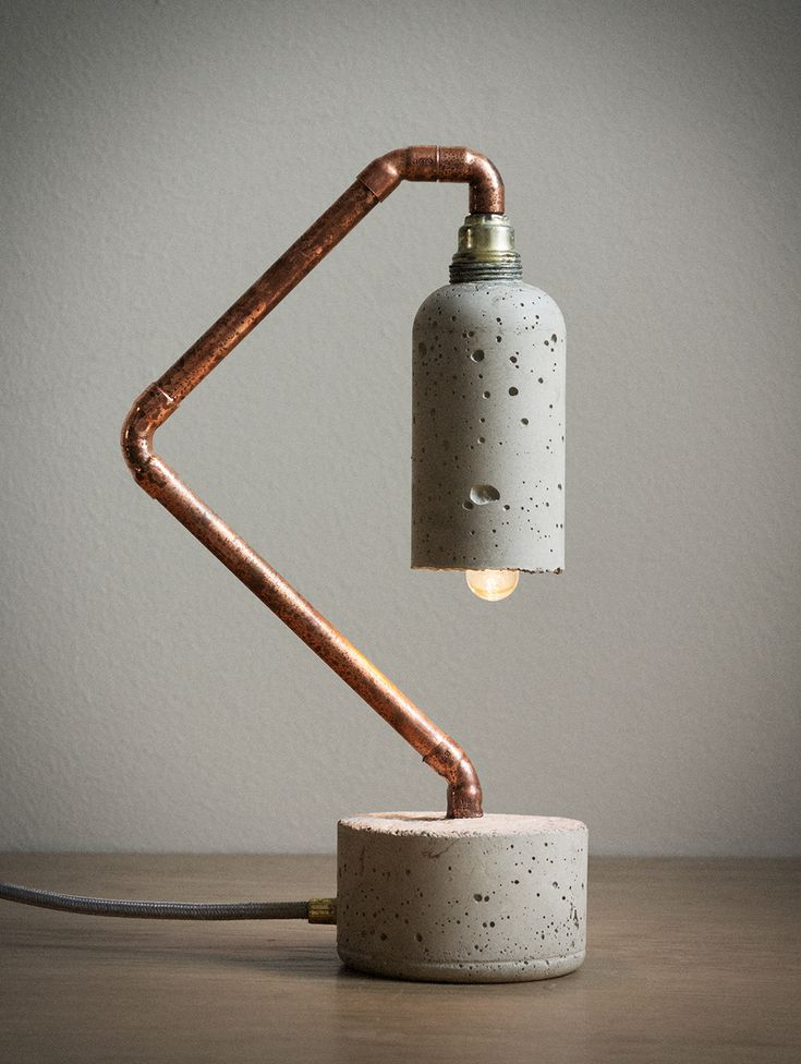 Concrete and Copper Cool Lamps