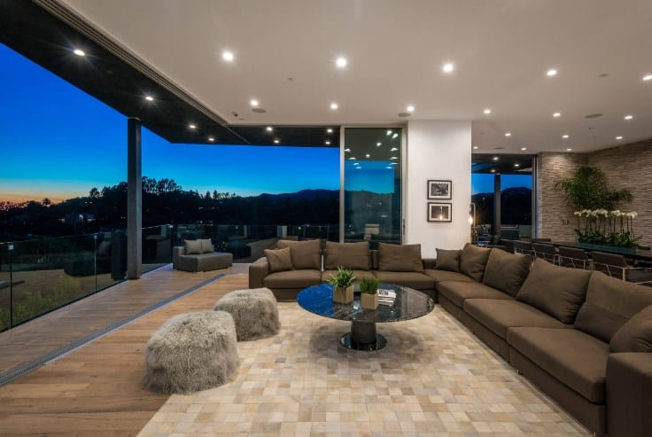Contemporary Mansion Living Rooms