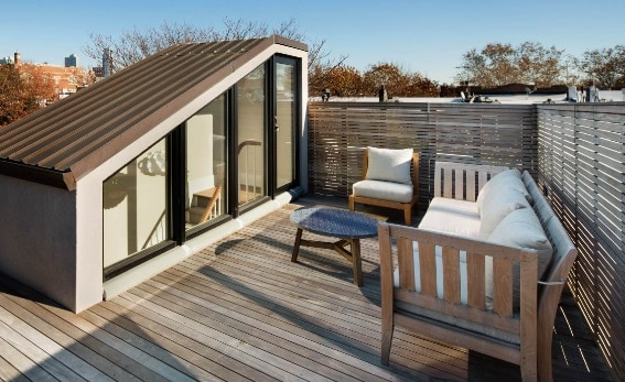 Contemporary Rooftop Deck