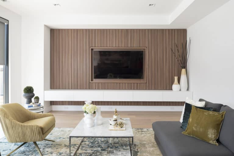 Contemporary Wood Accent Wall Ideas