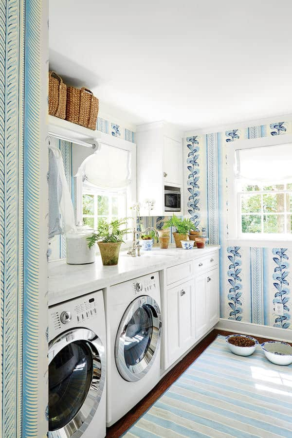 Cool And Bright Laundry Room Paint Colors