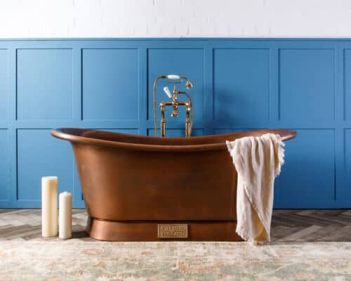 Copper Bathtub for Cozy Soaking