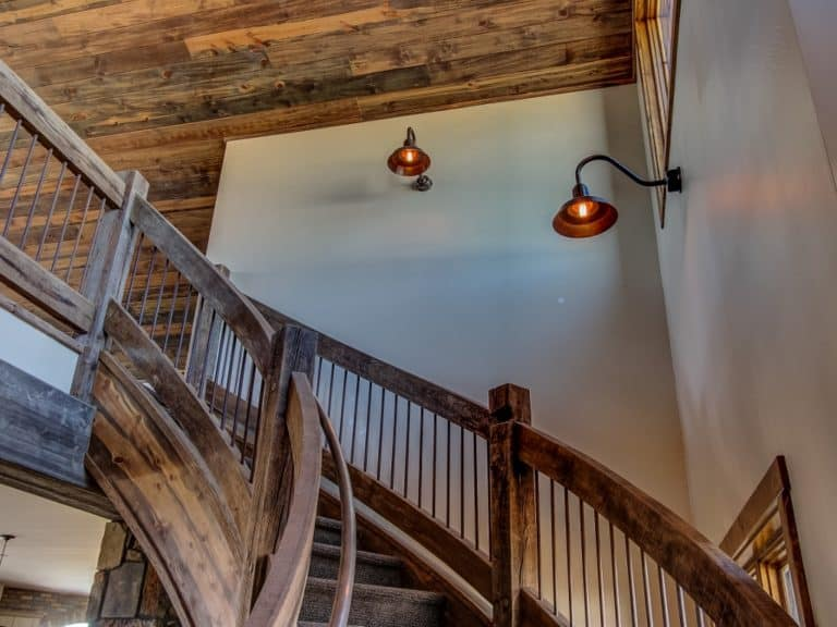 Copper Wall-Mounted Stairway Lighting