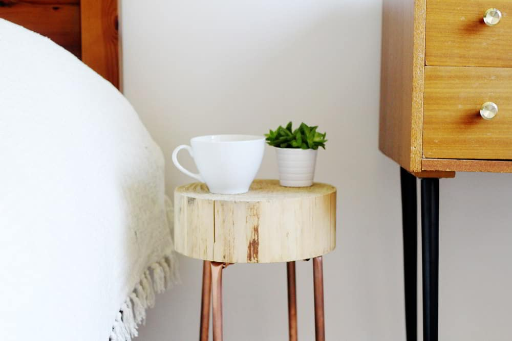 Copper Wood Small Nightstand Ideas