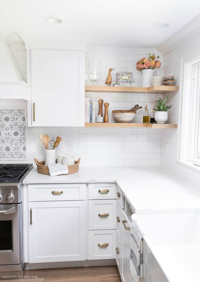Corner Open Kitchen Shelving