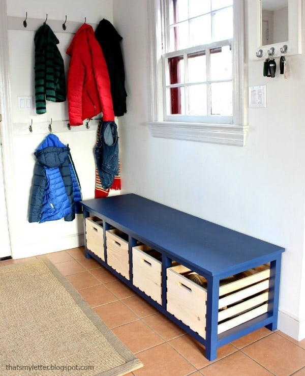 Crates Shoe Rack Bench