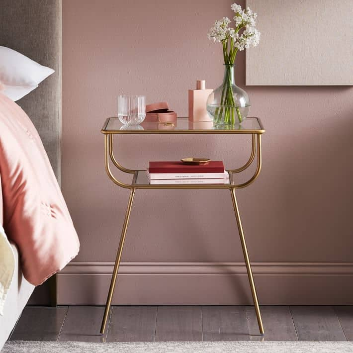Curved Luxurious Small Nightstand Ideas
