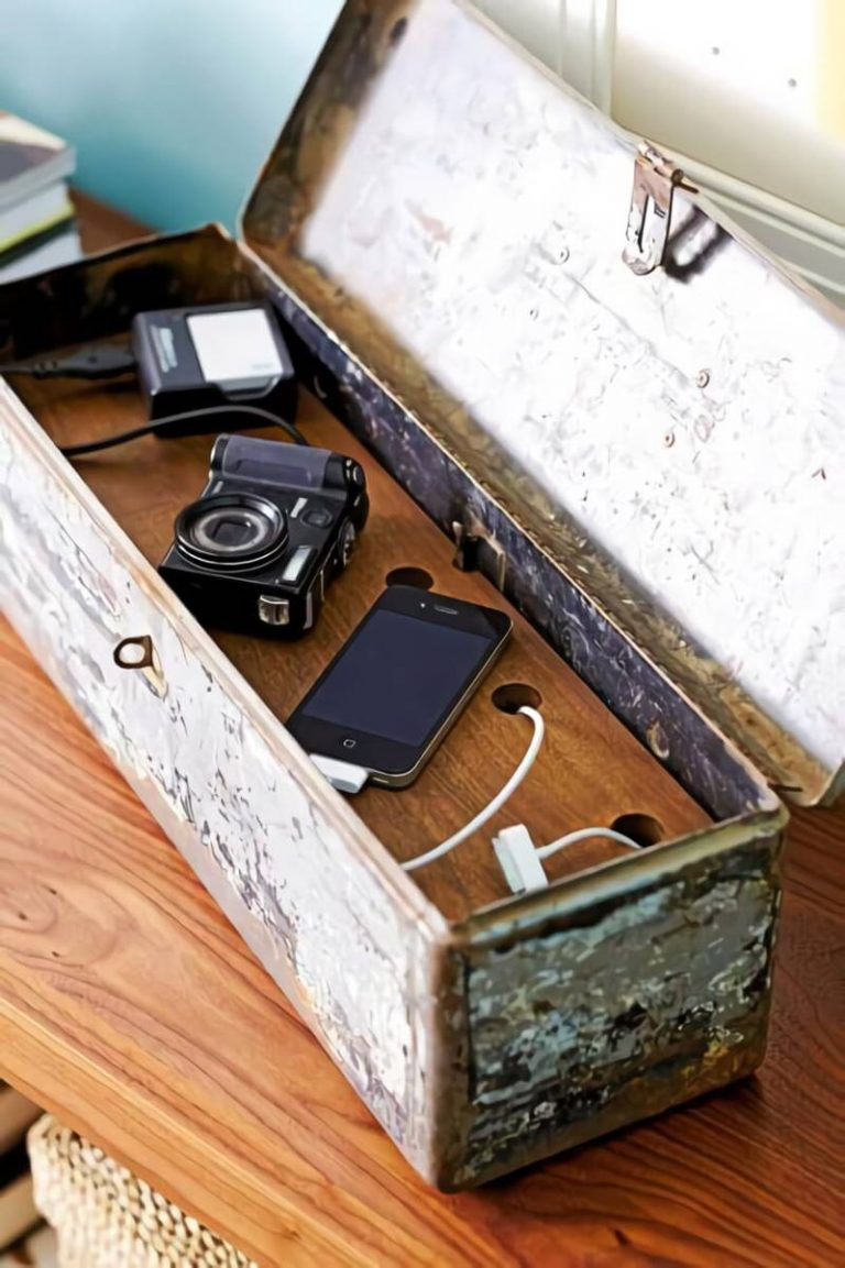 DIY Antique Box Charging Station