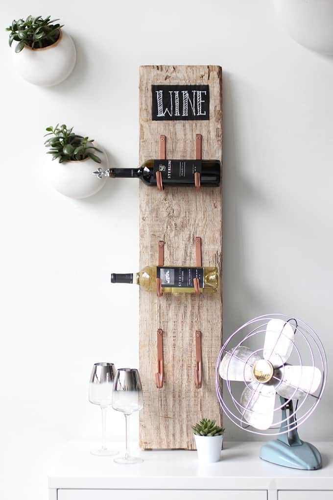DIY Barn Wood Wine Rack