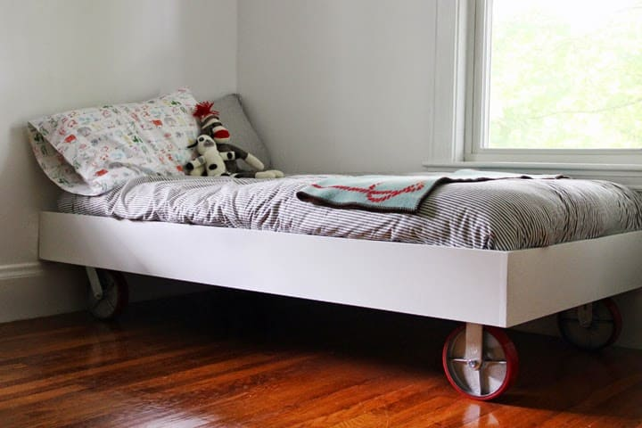 DIY Bed Frame on Wheels