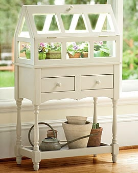 DIY Chic Indoor Greenhouse