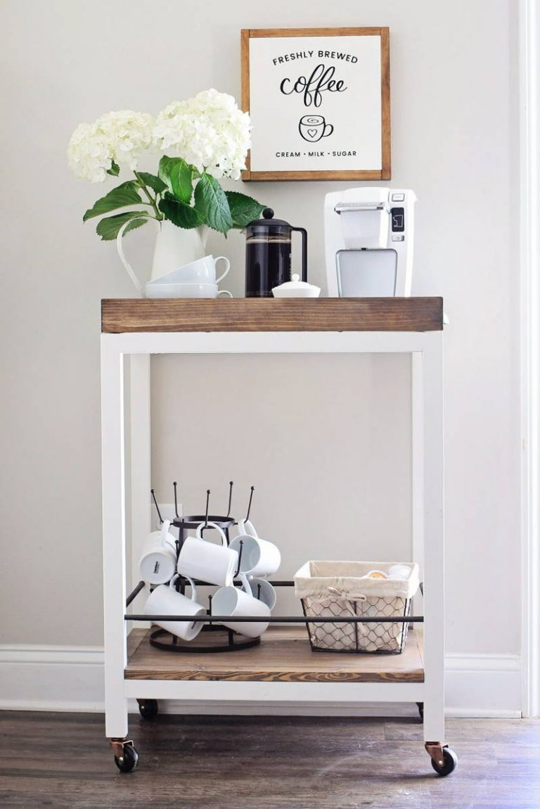 Simple Coffee Bar Cart