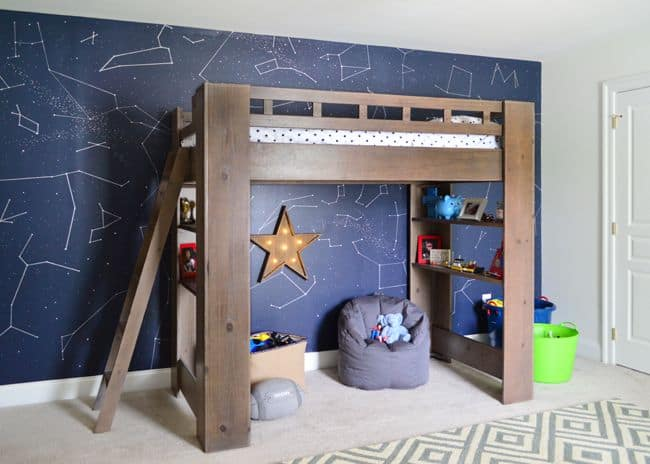 DIY Constellations Space Themed Bedroom