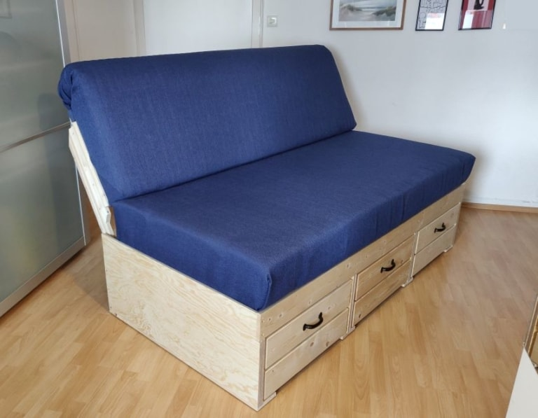 DIY Couch with Drawer