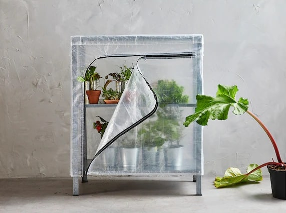 DIY Covered Indoor Greenhouse