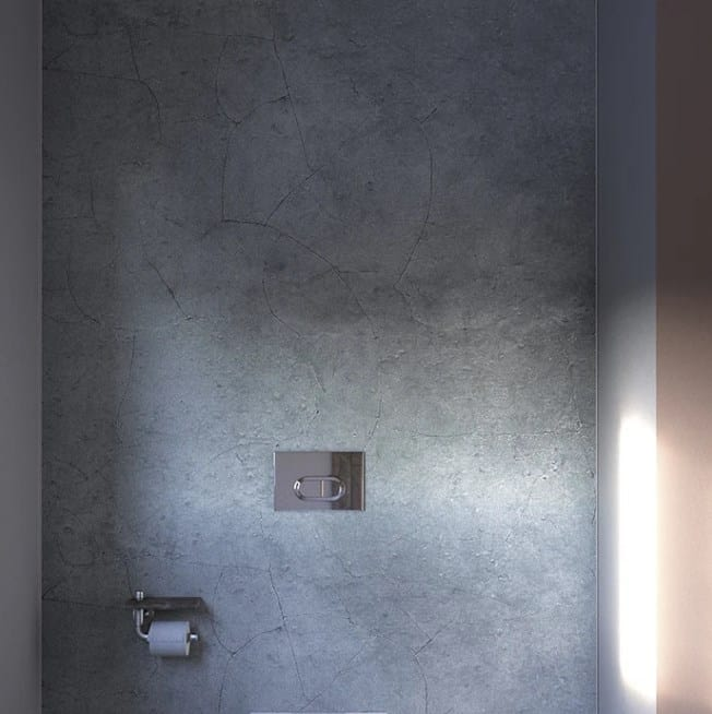DIY Cracked Concrete Shower Wall Panels
