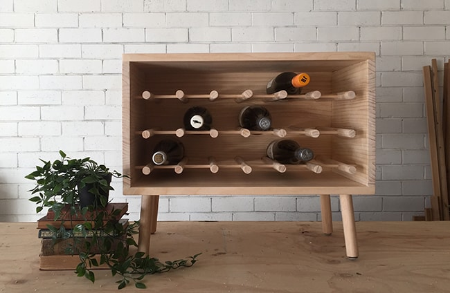 DIY Dowel Wine Rack
