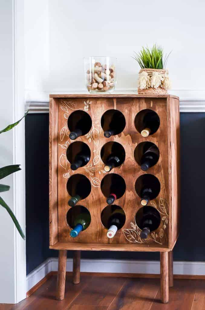DIY Easy Wine Rack
