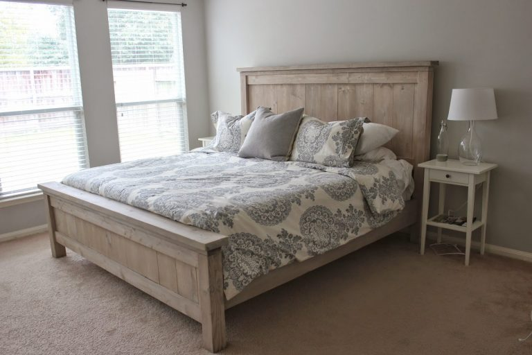 DIY Farmhouse Bed Frame
