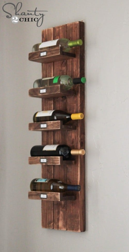 DIY Farmhouse Wine Rack