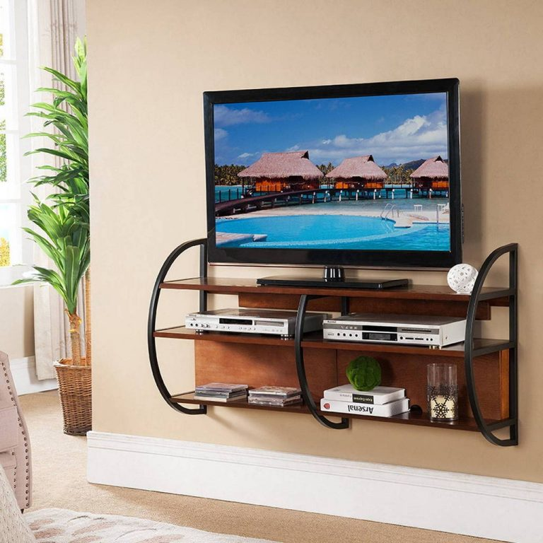 DIY Floating TV Stand with Storage