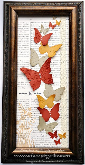 DIY Framed Butterfly Decorations