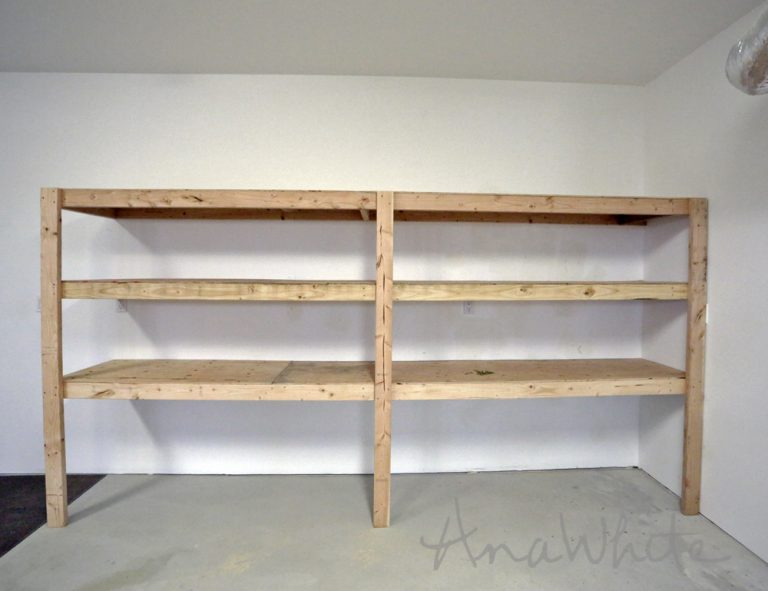 DIY Garage Shelves: Attach to the Wall