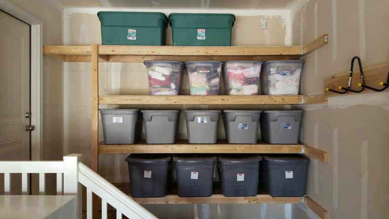 DIY Garage Shelves For Small Space
