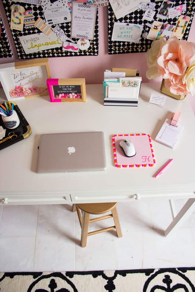 DIY Girly Mouse Pad