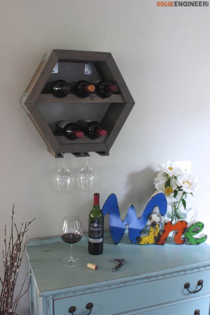 DIY Hexagonal Wine Rack