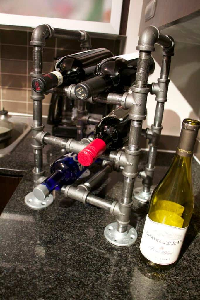 DIY Industrial Wine Rack