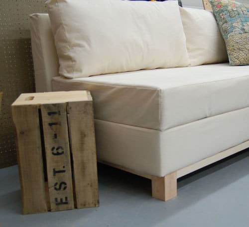 DIY Invisible Storage Couch