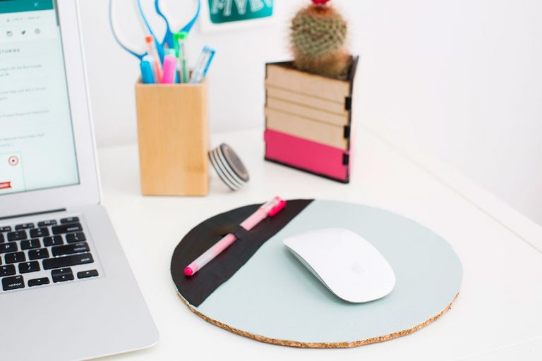 DIY Leather Mouse Pad