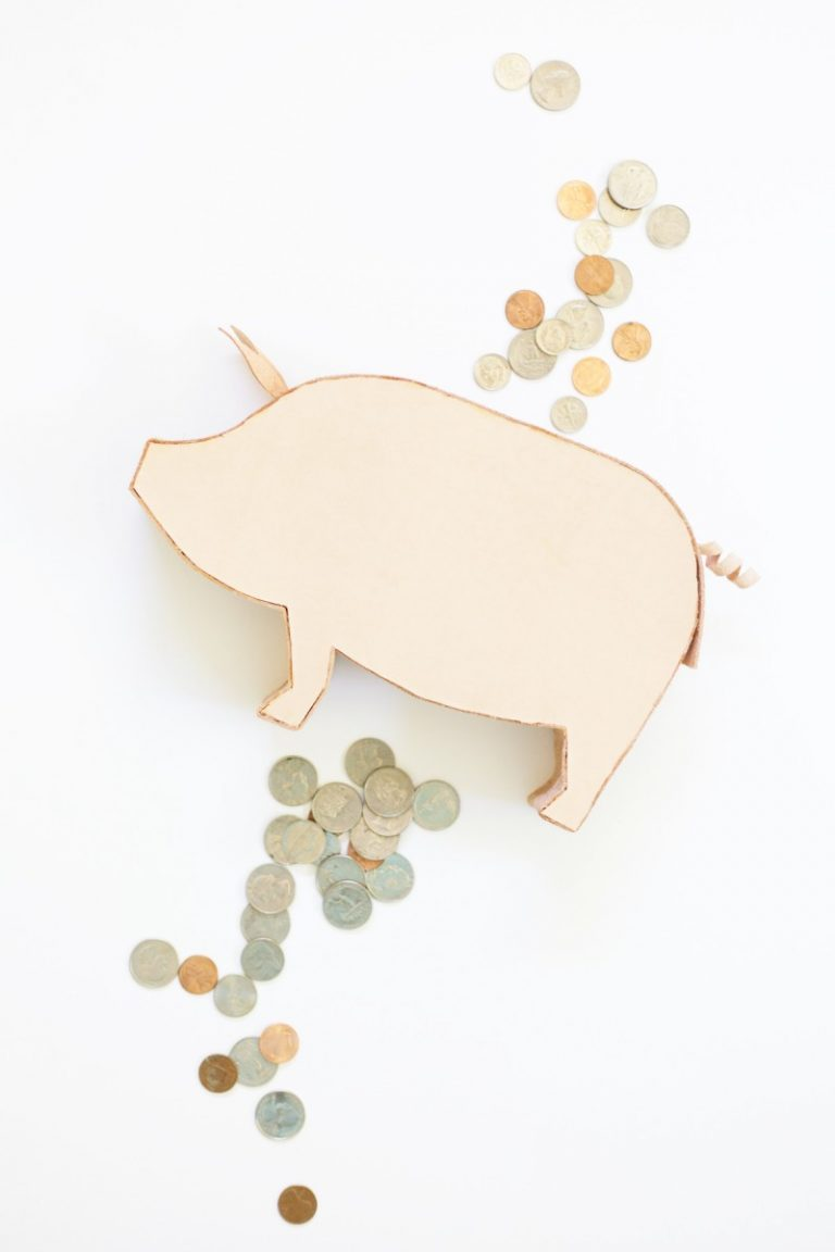 DIY Simple Leather Piggy Bank