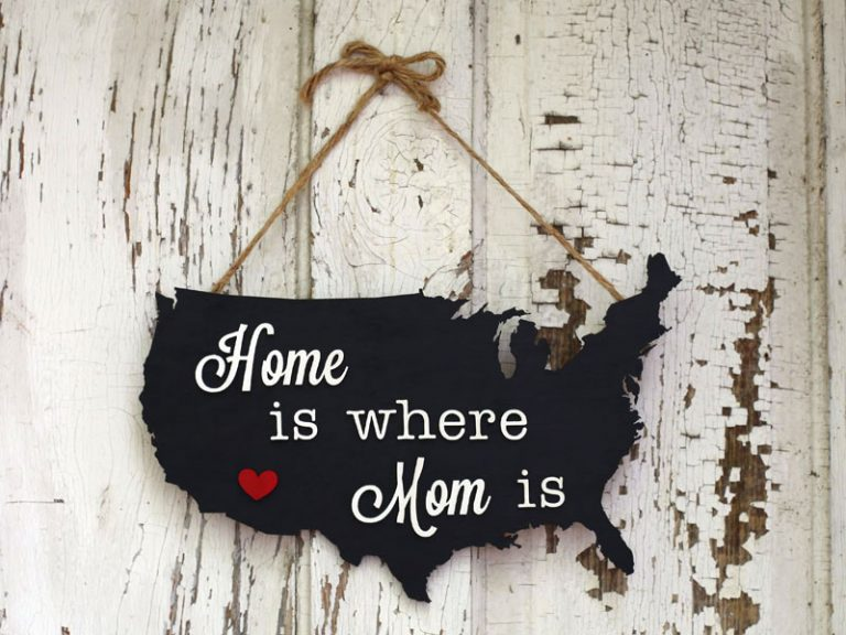 DIY Map Mothers Day Signs
