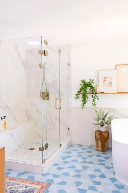 DIY Marble Wall Shower Panels