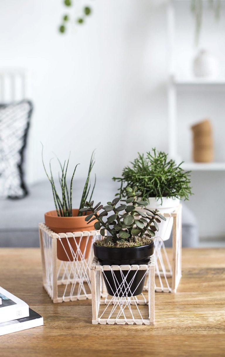 DIY Mini Decorative Plant Stand
