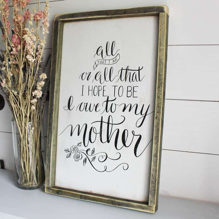 DIY Mothers Day Signs
