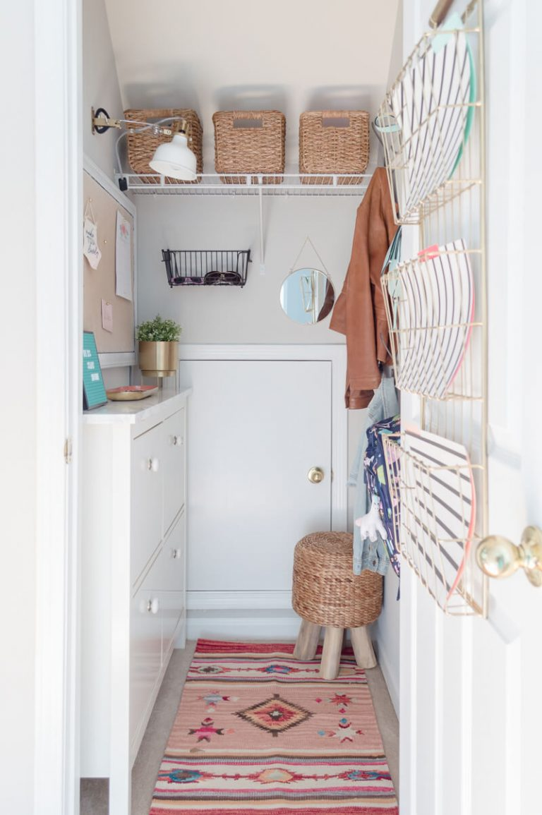 DIY Mudroom Closet Organizer