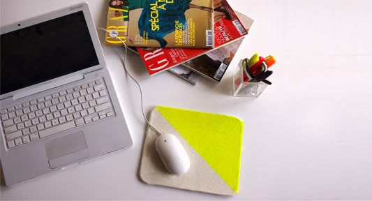 DIY Neon Mouse Pad