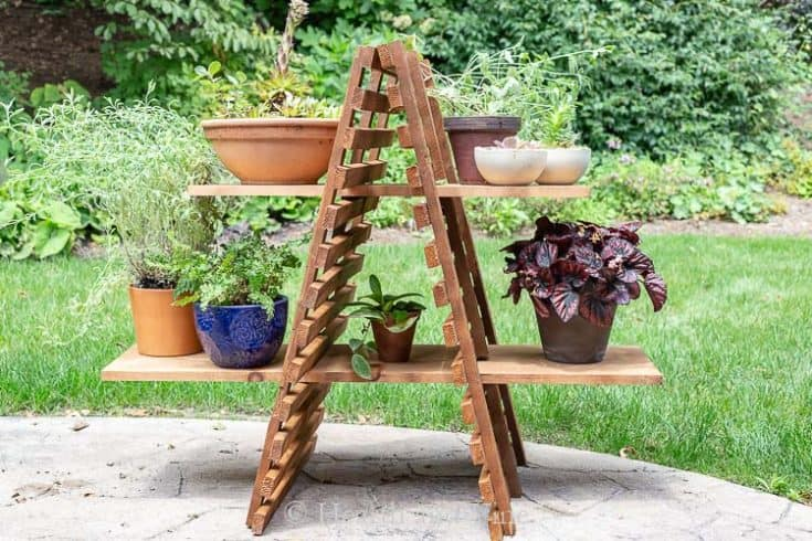 DIY Simple Outdoor Plant Stand Ideas