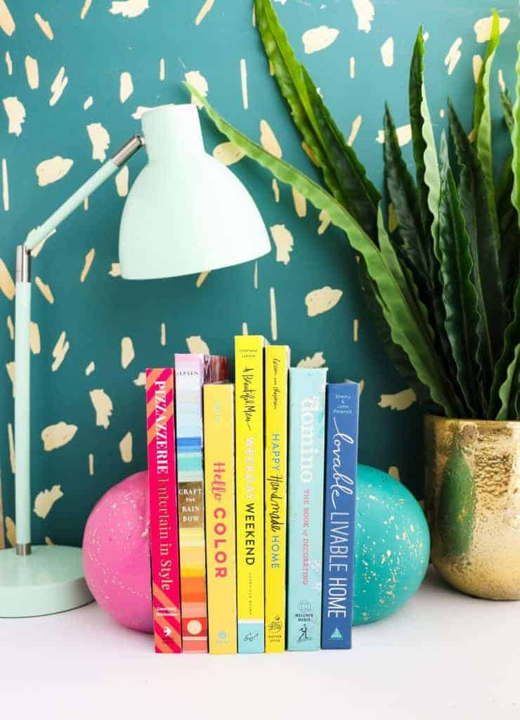 DIY Painted Bookends
