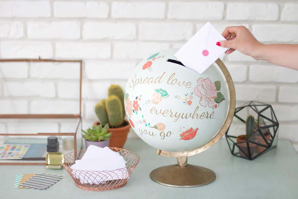 DIY Painted Globe Bank