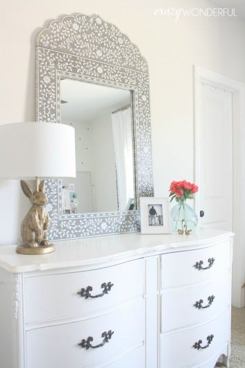 DIY Painted Wood Framed Mirrors